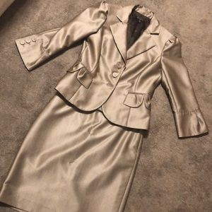 Nine West light brown with metallic tinge suit